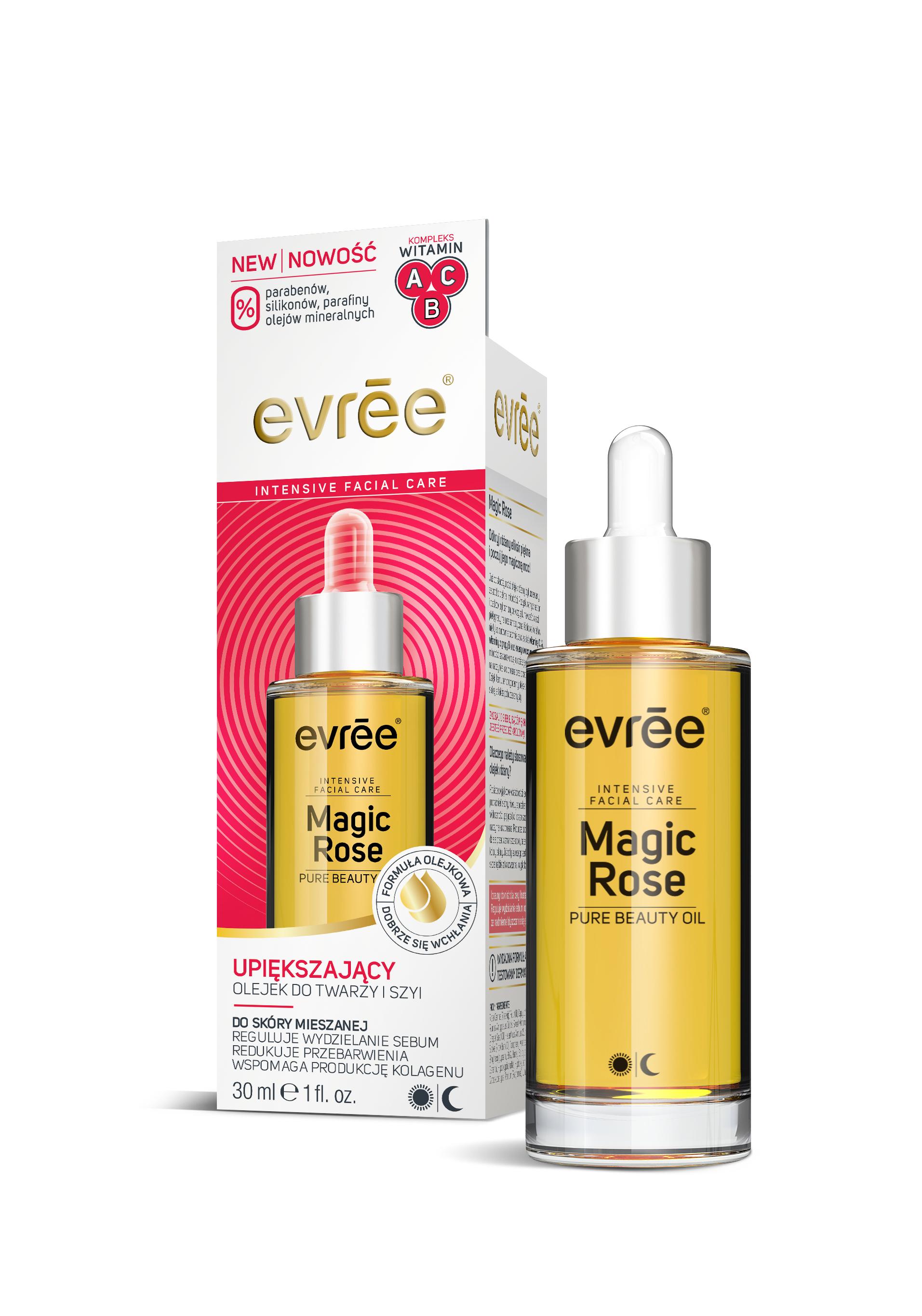 EVREE_olejek_Magic Rose_evree_Carton+Bottle