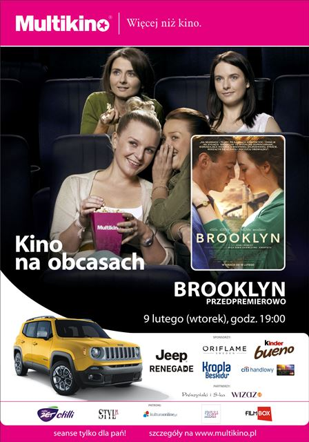 """magazynkobiet.pl - Brooklyn Kino na Obcasach Magazyn Kobiet - """"Brooklyn"""" z Saoirse Ronan przedpremierowo  9 lutego w ramach cyklu  """"Kino na Obcasach""""!"""