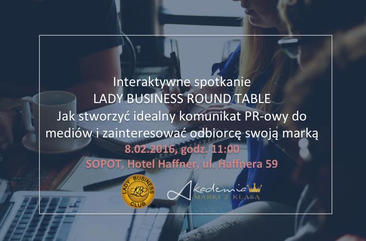 magazynkobiet.pl - Plakat spotkanie Sopot 8.02.2016 - Jak stworzyć idealny komunikat PR-owy do mediów i zainteresować odbiorcę swoją marką?