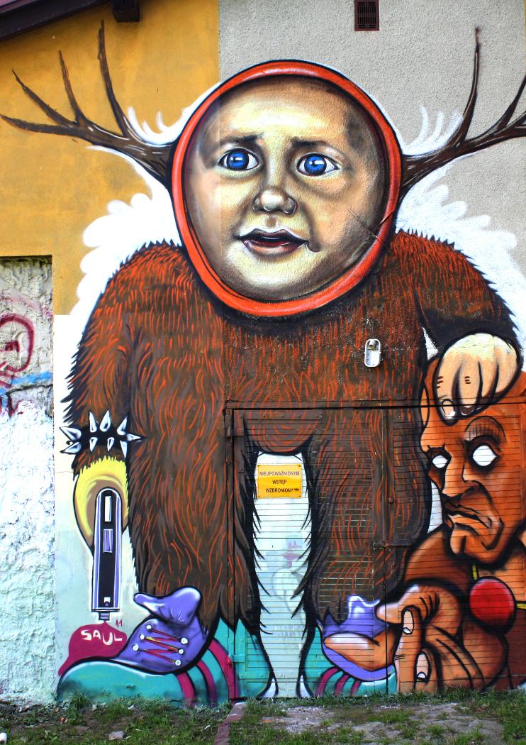 magazynkobiet.pl - fot. Piotr Saul Graffiti Dziecko 2014 - Malarstwo Piotra Saula - między hecą a groteską