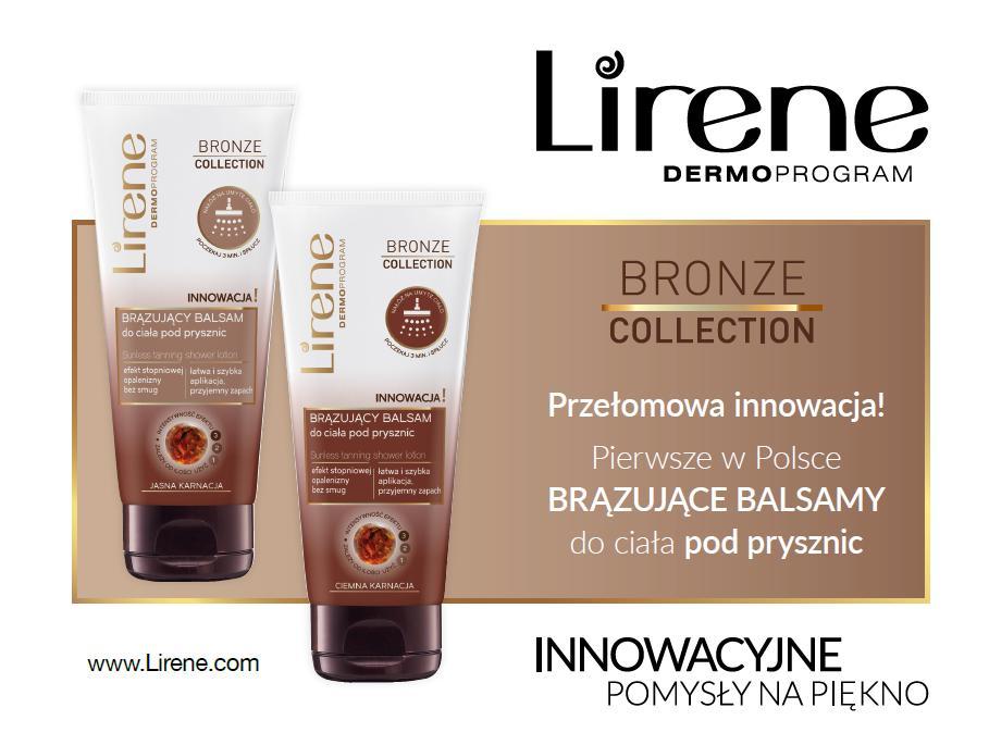 magazynkobiet.pl - lirene - Przełomowa innowacja! Pierwsze w Polsce BRĄZUJĄCE BALSAMY do ciała  pod prysznic Lirene Bronze Collection