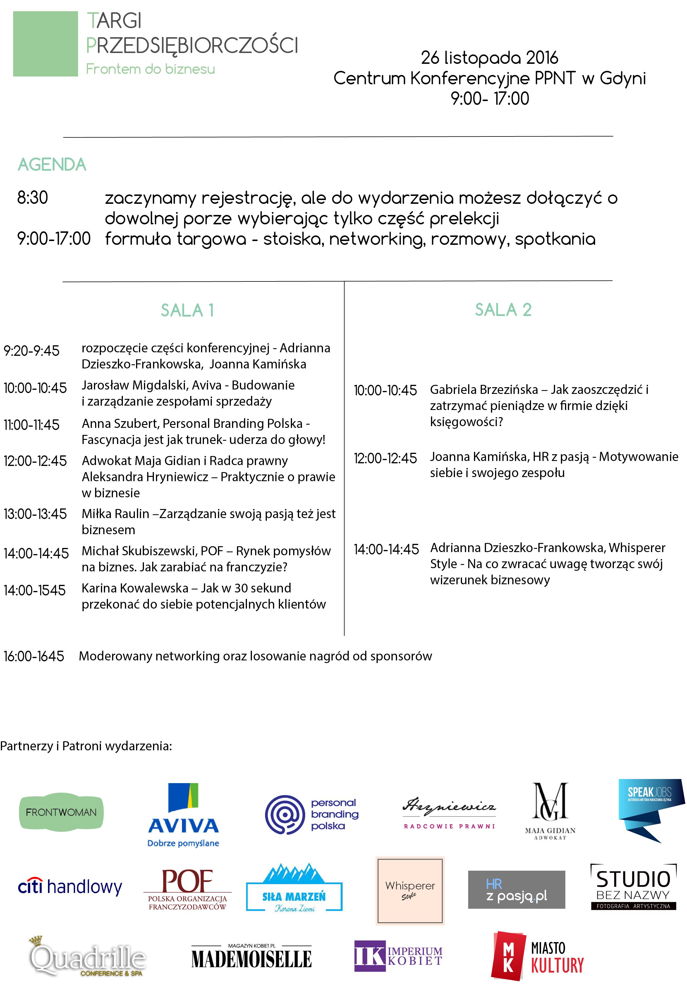 magazynkobiet.pl - Agenda wydarzenia 1 - Targi Przedsiębiorczośći- FRONTWOMAN