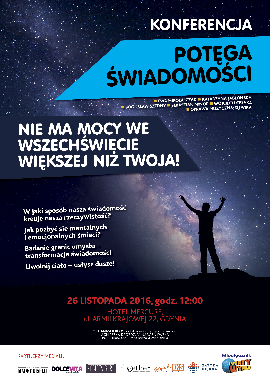 """magazynkobiet.pl - 6257 KONFERENCJA Plakat A3 06 - Kura Nie Domowa - Konferencja """"Potęga Świadomości"""""""