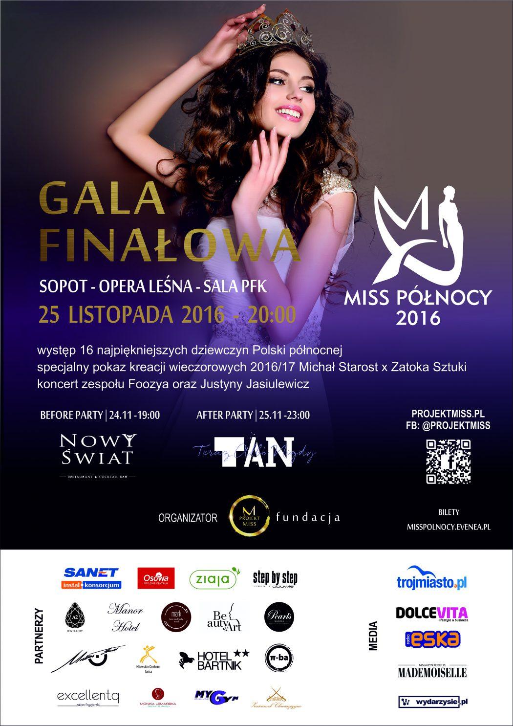 magazynkobiet.pl - plakat gala a4 1050x1485 - Wybory Miss Północy