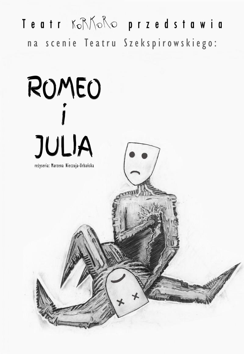 magazynkobiet.pl - RomeoiJulia Korkoro plakat a4 - Romeo i Julia, Teatr Korkoro w Teatrze Szekspirowskim 13.01.2017 godz 19:00