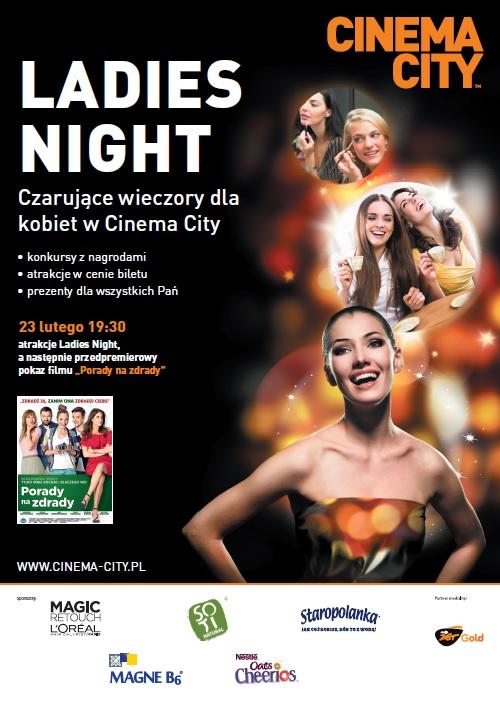 """magazynkobiet.pl - Ladies Night Porady Na Zdrady Plakat - """"PORADY NA ZDRADY"""" PODCZAS LADIES NIGHT W CINEMA CITY"""