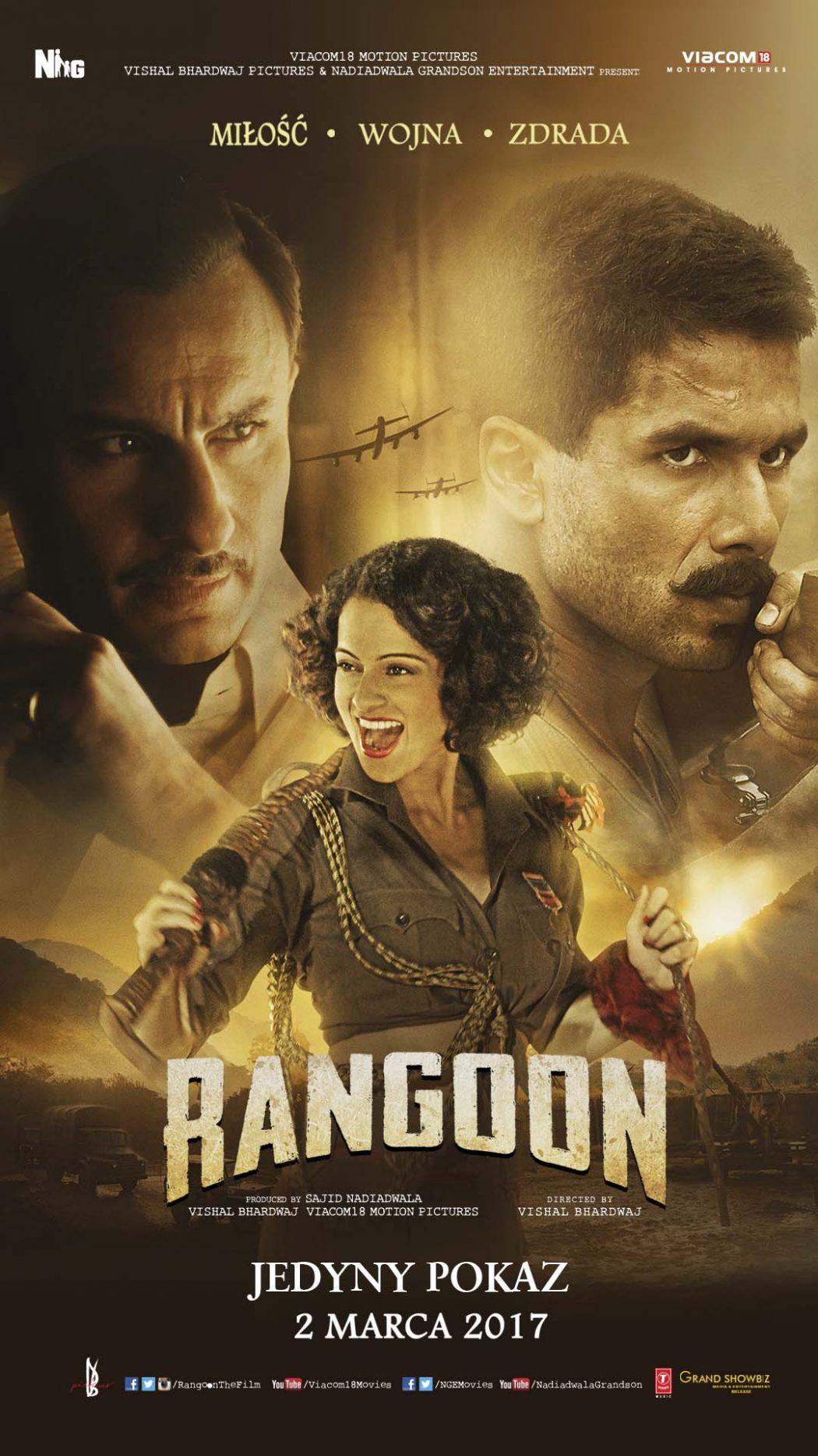 """magazynkobiet.pl - Rangoon Plakat 1050x1867 - Specjalny pokaz najnowszej produkcji Bollywood - """"Rangoon""""!"""