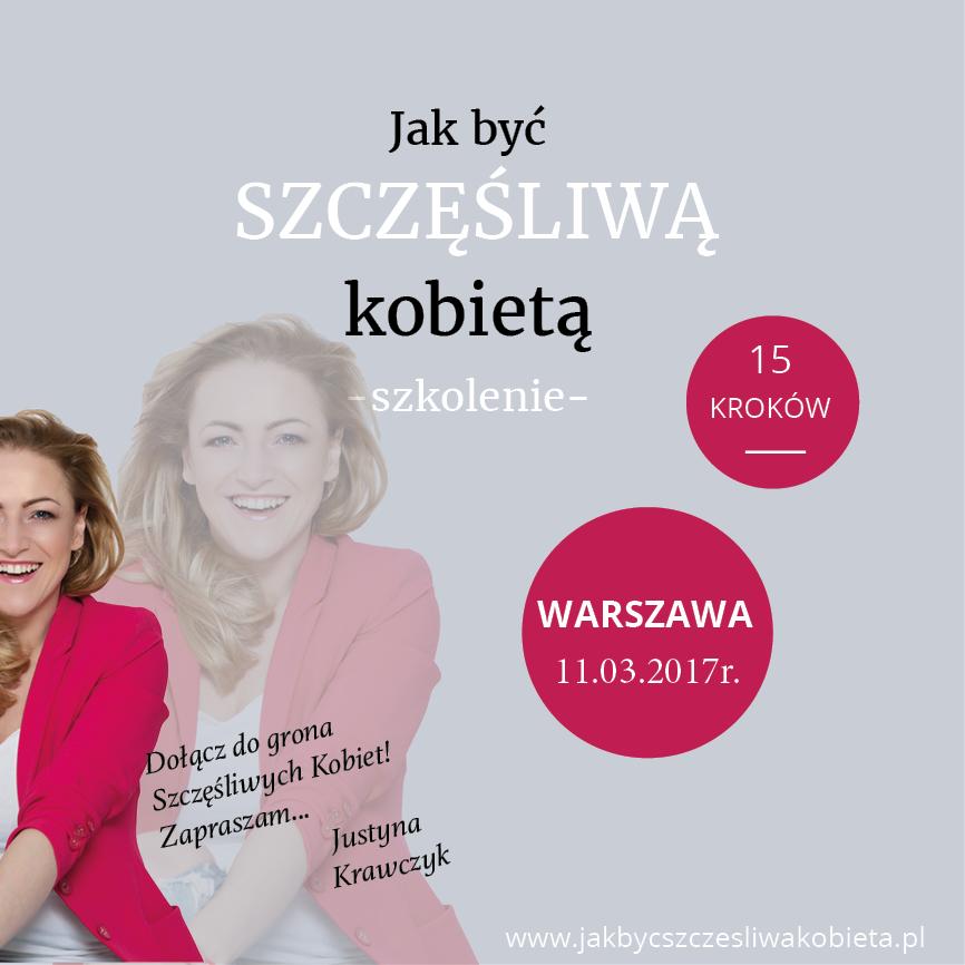 """magazynkobiet.pl - post Fb - Szkolenie """"Jak być szczęśliwą kobietą"""""""