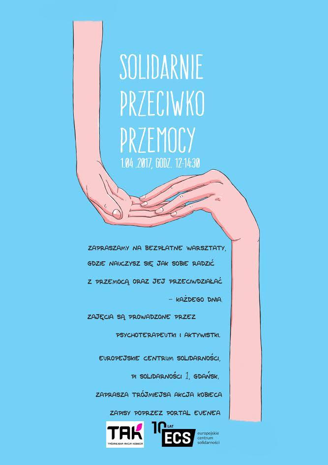 """magazynkobiet.pl - Solidarnie przeciwko przemocy plakat - """"Solidarnie przeciwko przemocy"""""""