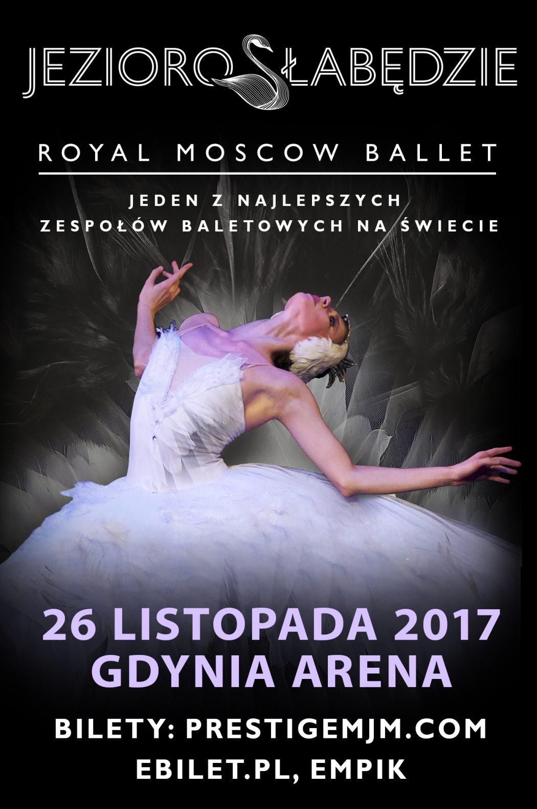 """magazynkobiet.pl - 02 Jezioro Łabędzie Gdynia Arena plakat klasyczny mini 250x376 1050x1580 - """"Jezioro Łabędzie"""" w królewskim wykonaniu. Do Polski przyjadą rosyjscy mistrzowie baletu"""