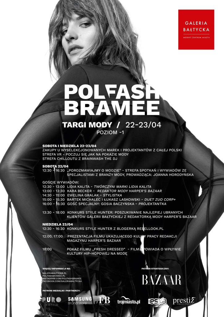 magazynkobiet.pl - Polfash GB plakat z harmonogramem 724x1024 - Strefa wiedzy o modzie podczas Polfash Bramee w Gdańsku