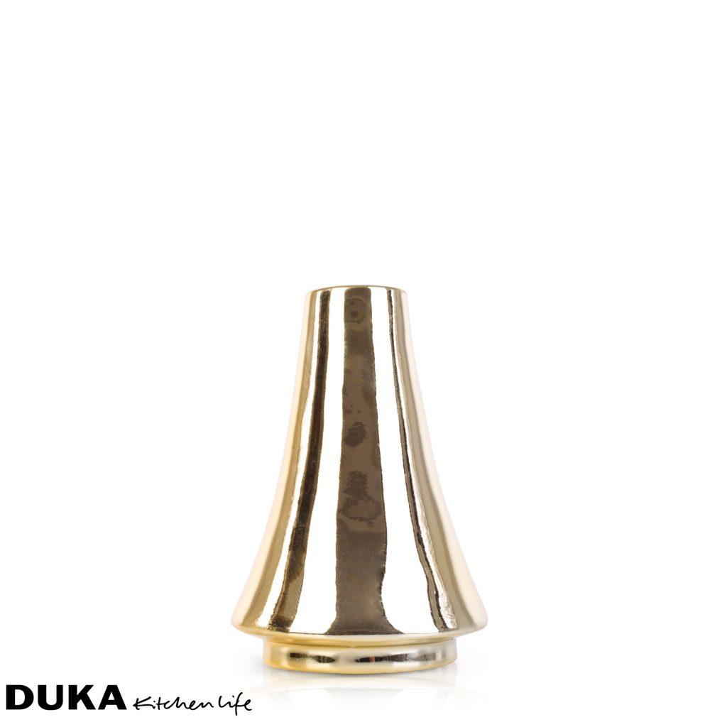magazynkobiet.pl - ceramiczny swiecznik dekoracyjny 118 cm zloty dukapolska com 31 1024x1024 - Złote motywy w kuchni - z czym je łączyć?
