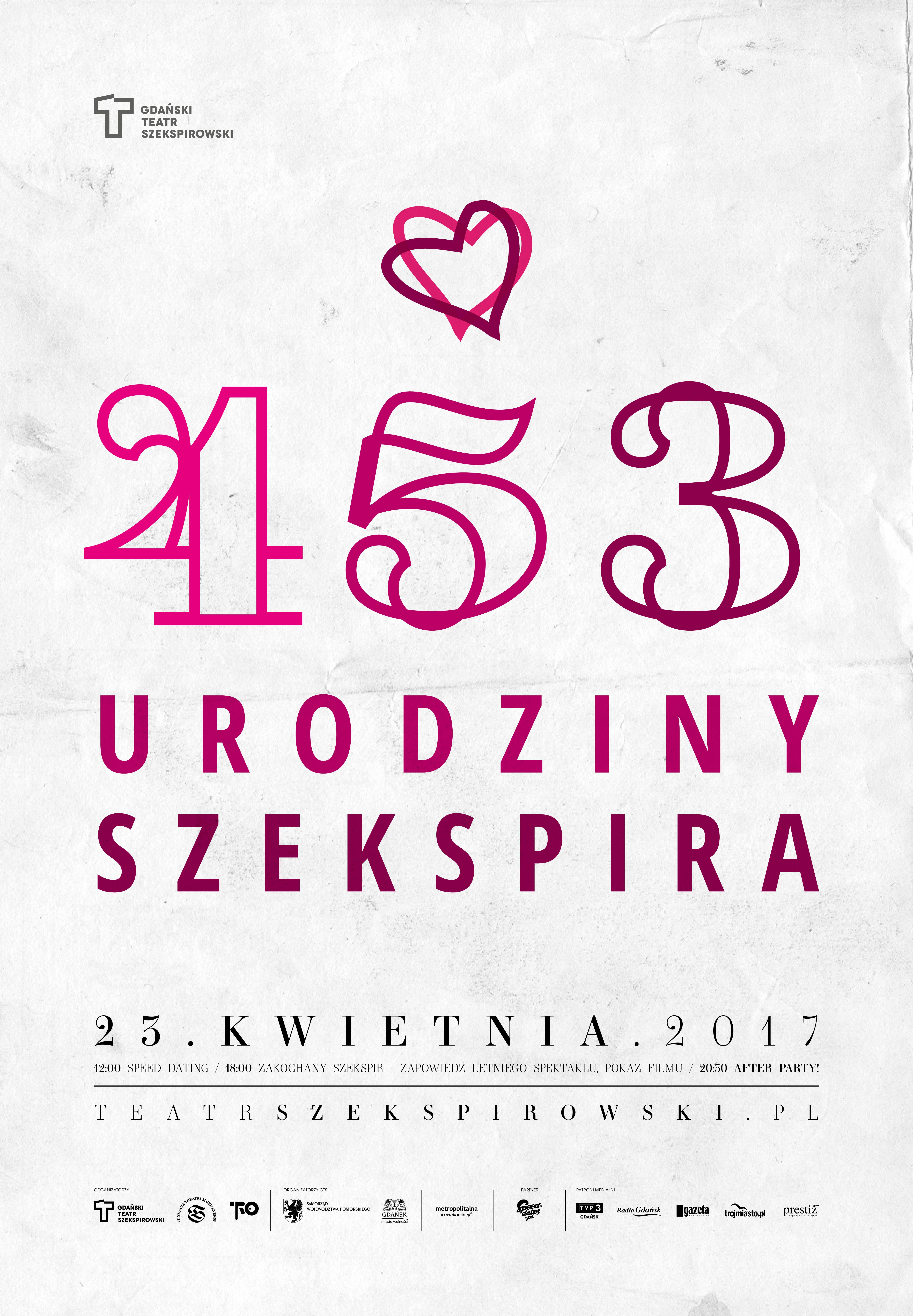 magazynkobiet.pl - uro szek b1 2017 druk1 - 453. Urodziny Williama Szekspira w Gdańsku