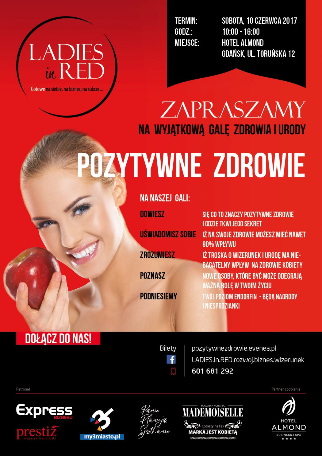 magazynkobiet.pl - L in Red Poster PozytywneZdrowie A3 1 1050x1485 - II Gala LADIES in RED - Pozytywne zdrowie