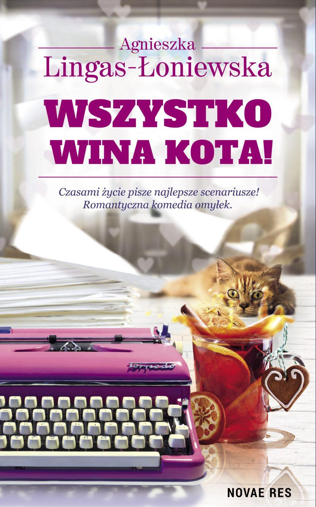 magazynkobiet.pl - Wszystko wina kota okl 1050x1681 - Romantyczna komedia omyłek
