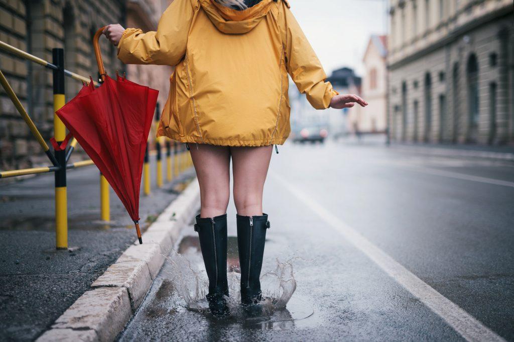 magazynkobiet.pl - Fot 2 Modnie w deszczu 1024x683 - Skandynawska recepta na deszcz - Nie ma złej pogody, są tylko źle dobrane ubrania