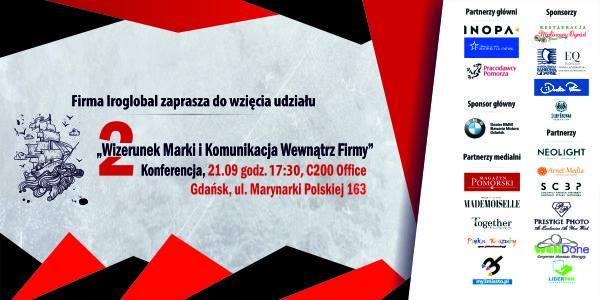 """magazynkobiet.pl - Plakat konferencja 21.09 - II Konferencja """"Wizerunek Marki i Komunikacji Wewnątrz Firmy"""""""