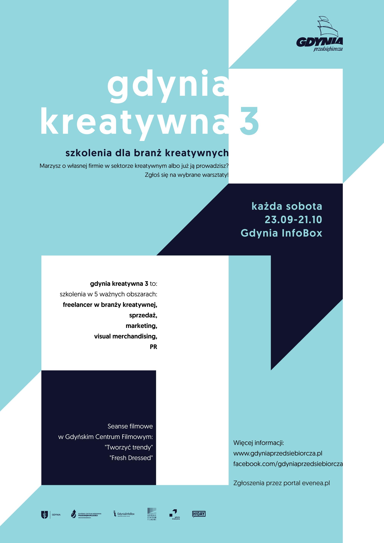 magazynkobiet.pl - gdynia kreatywna 3 plakat - Bezpłatne szkolenia dla branży kreatywnej w Gdyni