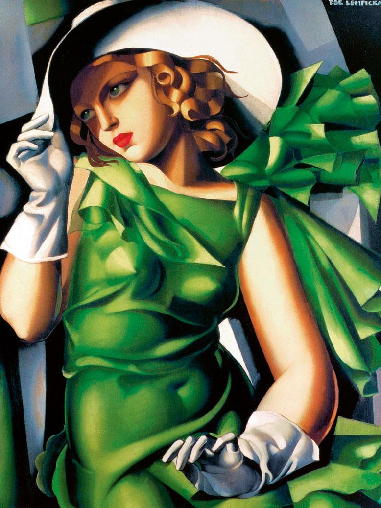 Obraz- Kobieta w zieleni