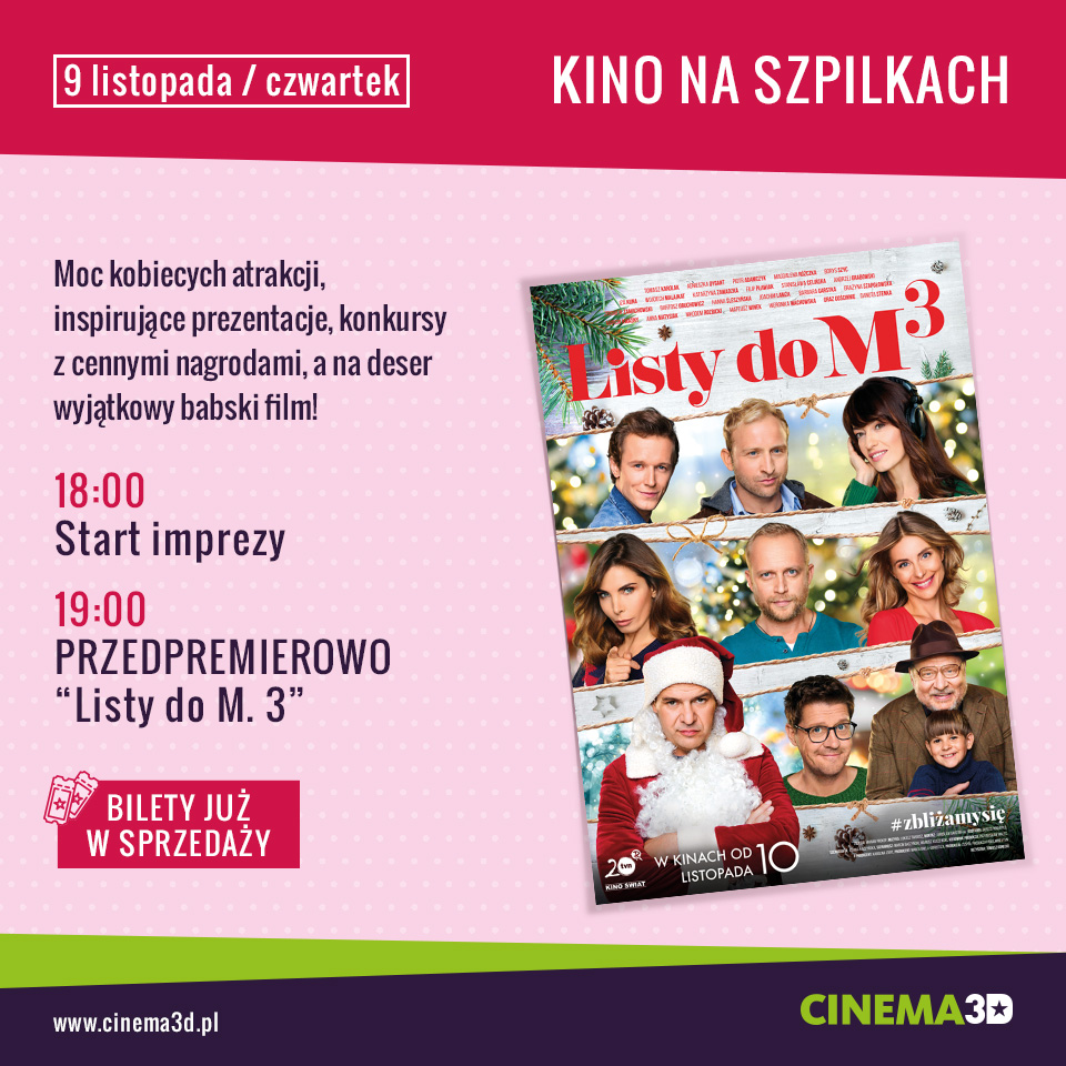 magazynkobiet.pl - KNS Listy do M 3 facebook post - Kino na Szpilkach