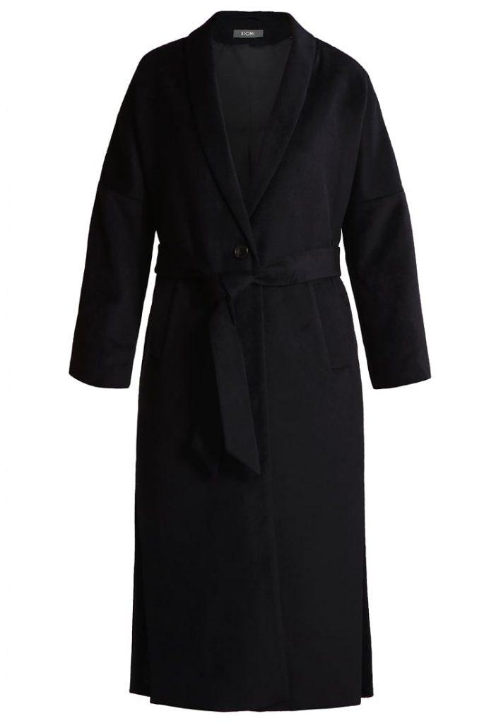 Czarny oversizowy płaszcz -KIOMI