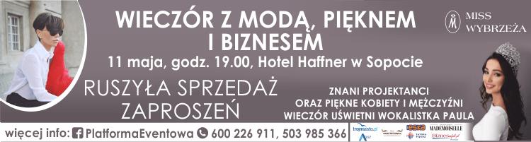 magazynkobiet.pl - miss gala baner16066 - Gala Miss Wybrzeża 2018 - Wieczór z Modą, Pięknem i Biznesem