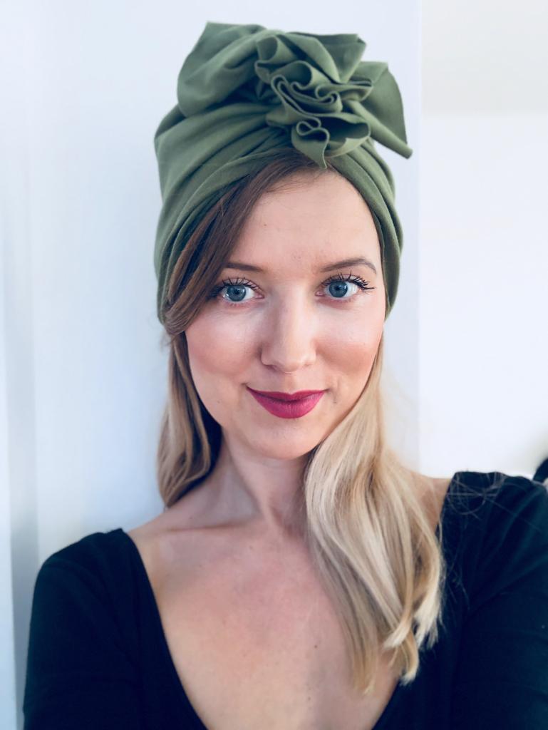 Turban dla kobiet Green Olive