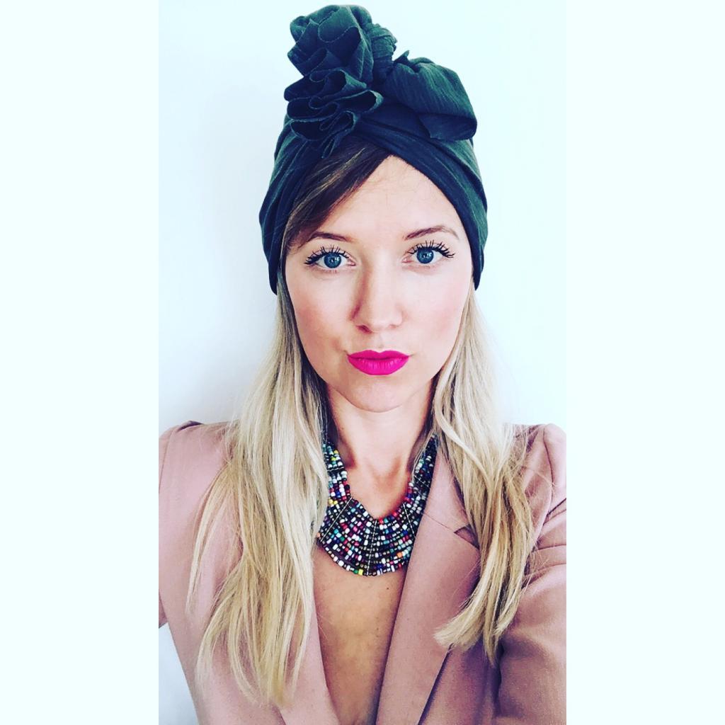 Turban dla kobiet Khaki