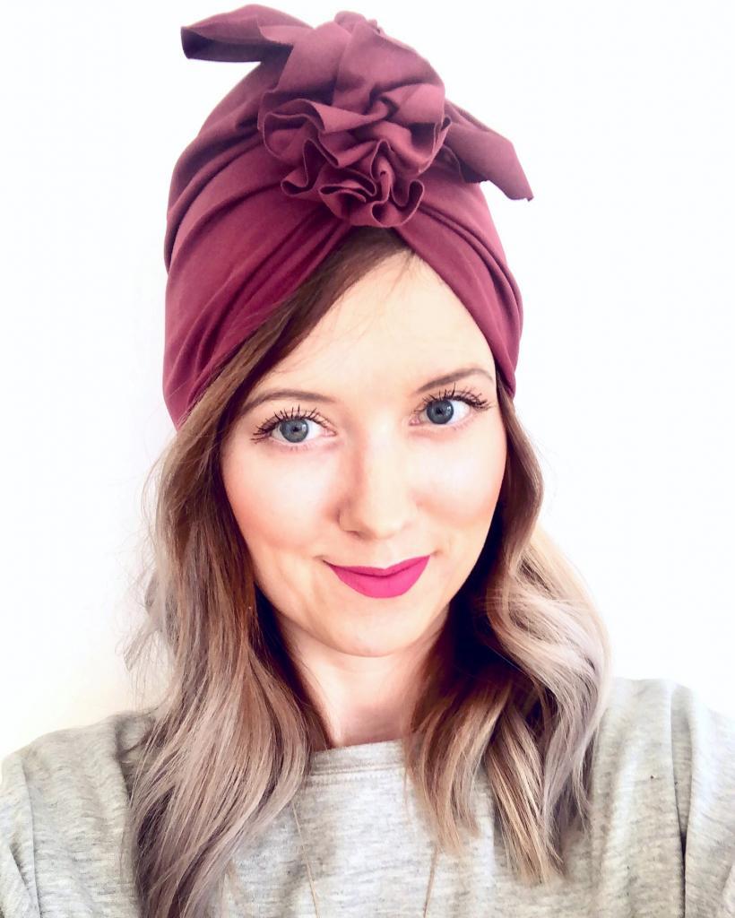 Turban dla kobiet Organic Burgundy