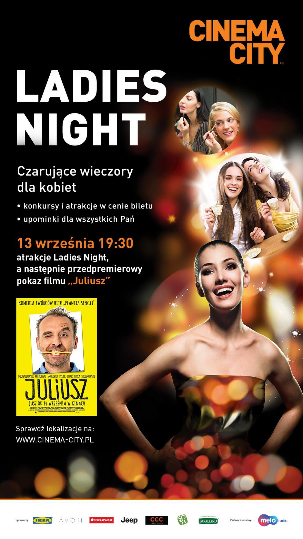 magazynkobiet.pl - 2018 09  Ladies Night Juliusz Plakat 1050x1867 - Spotkania Ladies Night w Cinema City powracają po wakacjach! | 13.09.2018