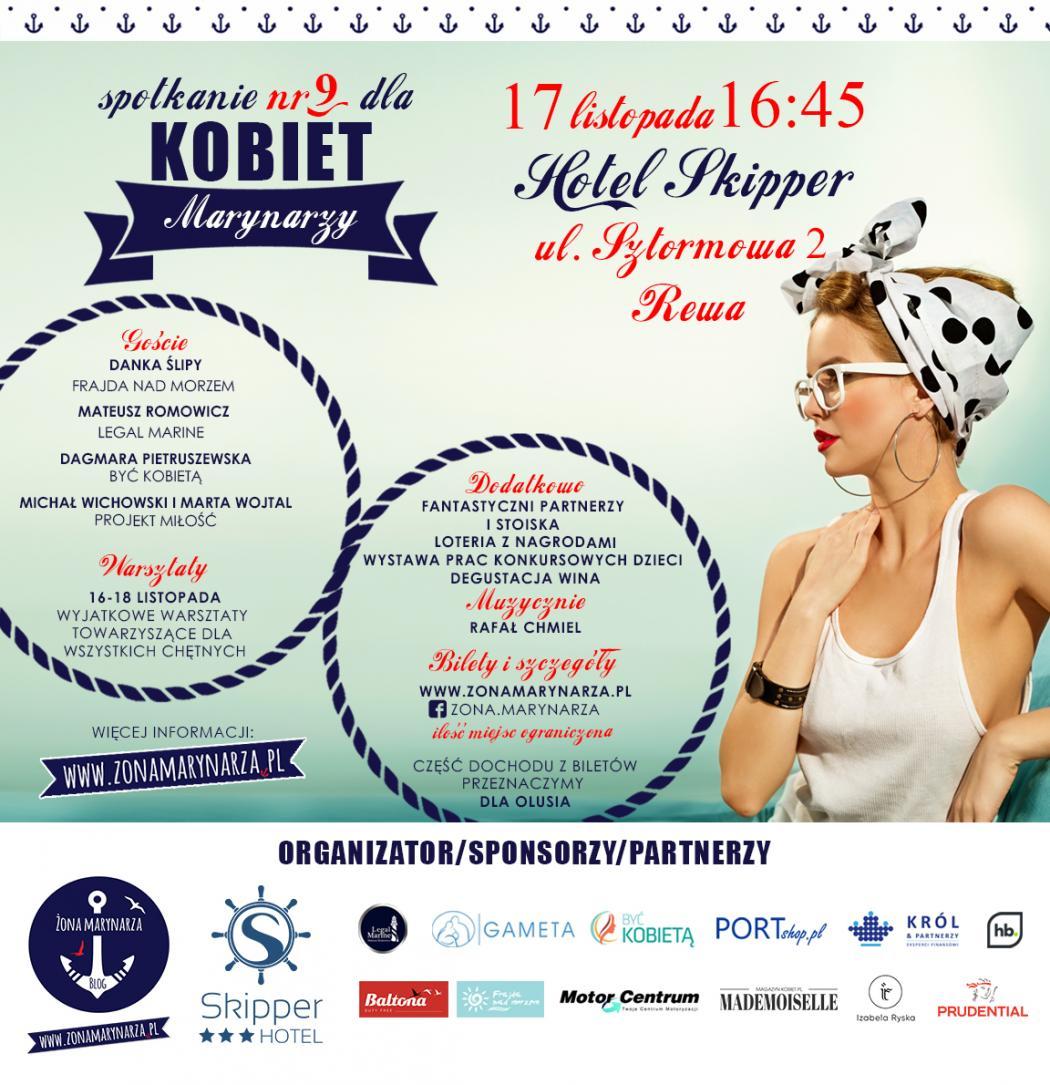 magazynkobiet.pl - PLAKAT 9spotkanie 2 1 1050x1085 - Spotkanie Dla Kobiet Marynarzy | 17.11.2018