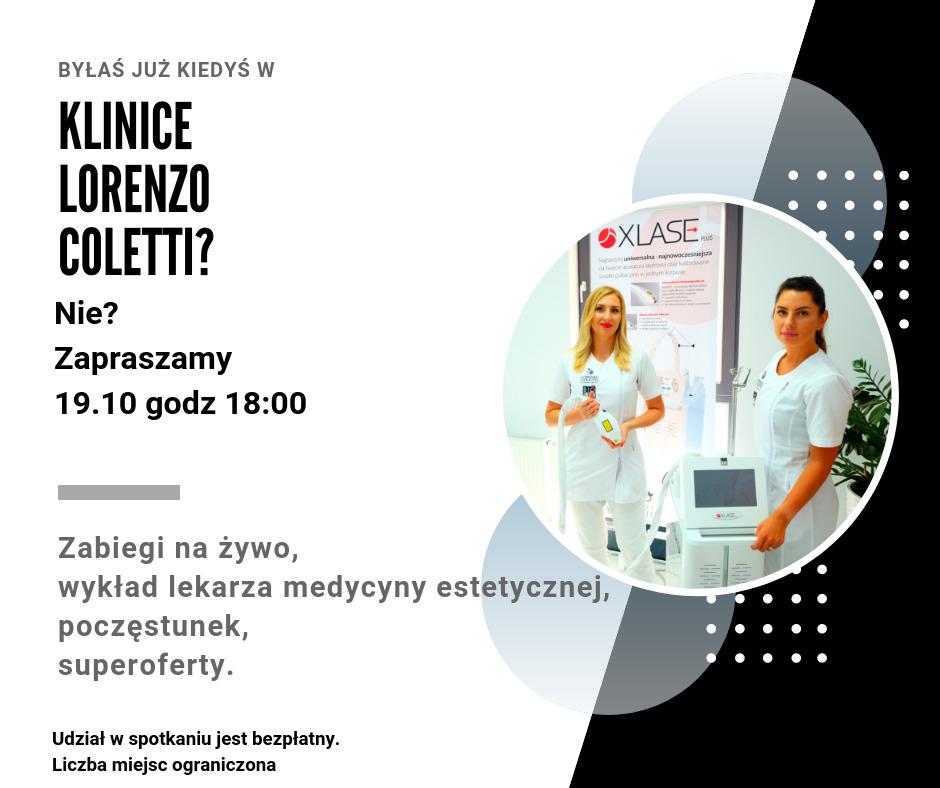 magazynkobiet.pl - Zaproszenie 19.10 - Klinika Lorenzo Coletti Gdańsk zaprasza ponownie! Zostały ostatnie wolne miejsce! | 19.10.2018