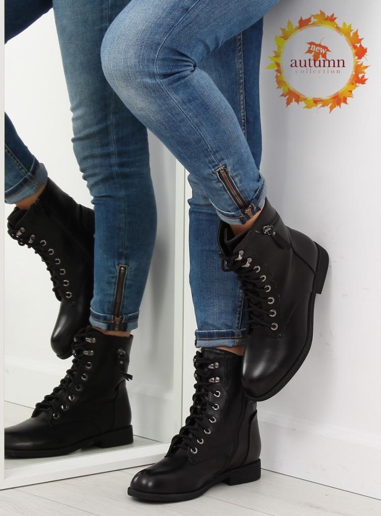 magazynkobiet.pl - pol pl botki sznurowane workery czarne 168 177 black 20756 1 755x1024 - Workery damskie - modne i wygodne obuwie na jesień
