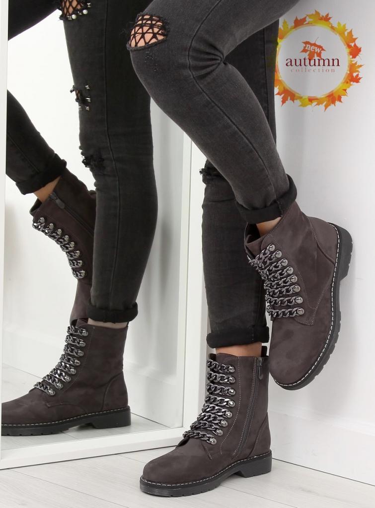 magazynkobiet.pl - pol pl botki workery szare 061 27 1 grey 20716 1 755x1024 - Workery damskie - modne i wygodne obuwie na jesień
