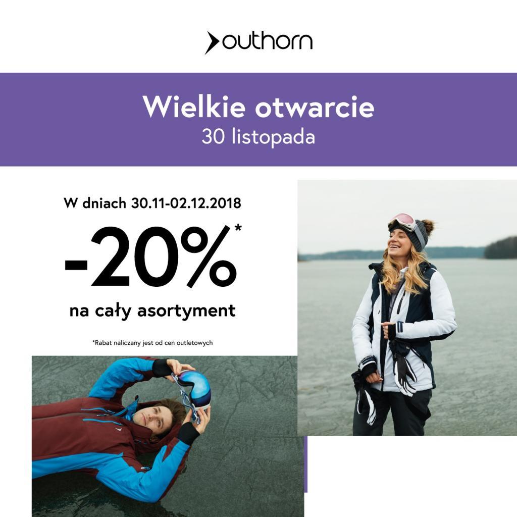 magazynkobiet.pl - OTH Banner 1024x1024 - Energorower i specjalne rabaty na otwarcie sklepu Outhorn w Designer Outlet Gdańsk