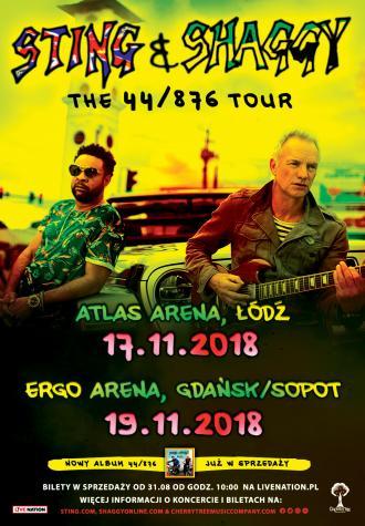 magazynkobiet.pl - Sting Shaggy POLAND 2018 pop 330x475 - Koncert STING & SHAGGY w Gdańsku! | 19.11.2018