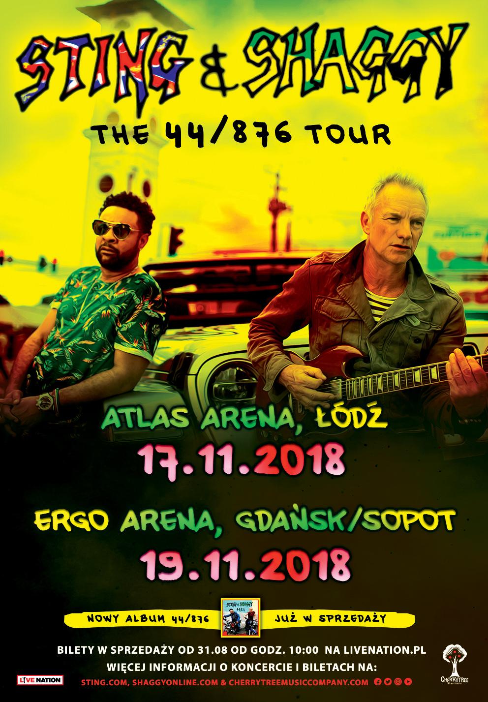 magazynkobiet.pl - Sting Shaggy POLAND 2018 pop - Koncert STING & SHAGGY w Gdańsku! | 19.11.2018