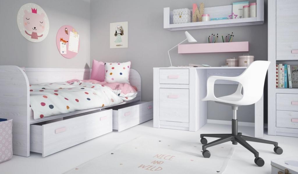 magazynkobiet.pl - 2 1 1024x600 - Białe meble do pokoju młodzieżowego – zalety i wady nowoczesnej aranżacji