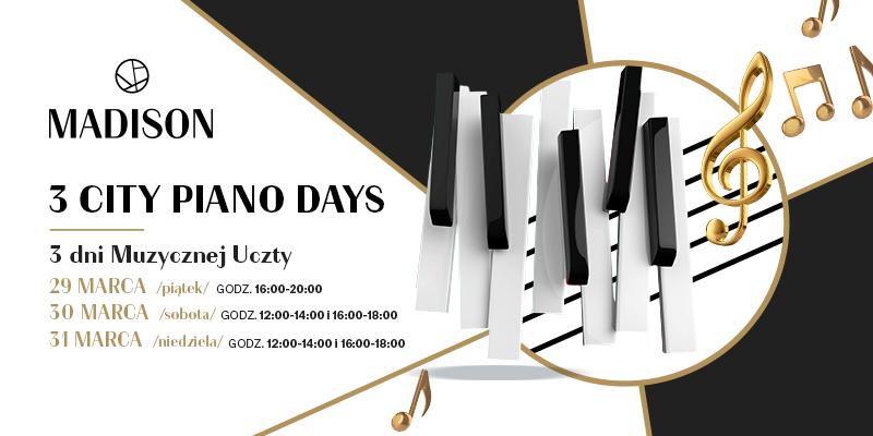 magazynkobiet.pl - MADISON 2019 PIANO DAYS 800x400px Informatorpomorza - Festiwal 3CITY PIANKO DAYS w Galerii Madison