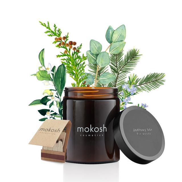 magazynkobiet.pl - mokosh swieca jodlowy bor - Świece zapachowe na zbliżającą się jesień – nasze propozycje