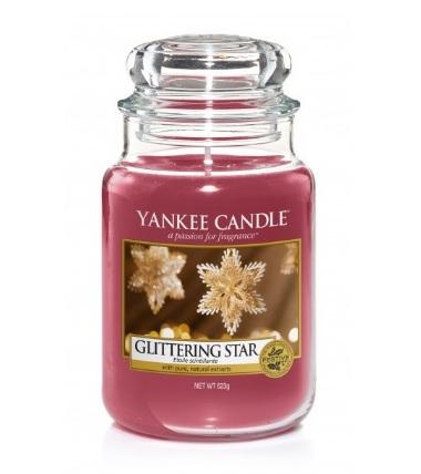 magazynkobiet.pl - yankee candle swieca w sloiku glittering star - Świece zapachowe na zbliżającą się jesień – nasze propozycje