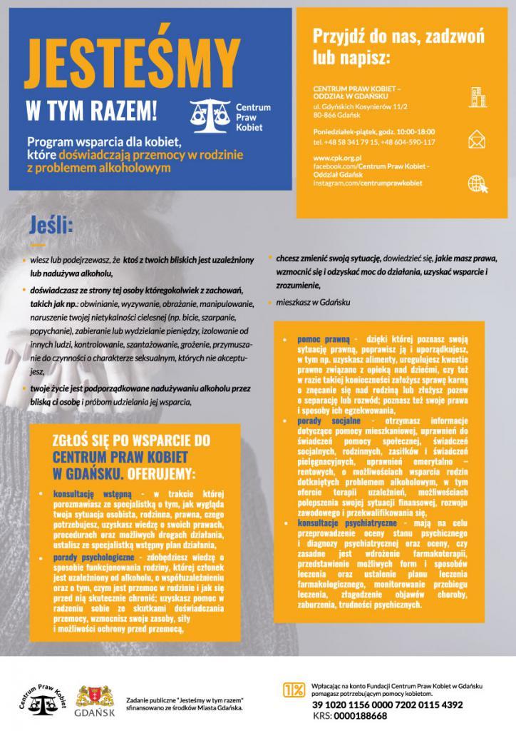 magazynkobiet.pl - CPK Gdansk Jestesmy w tym razem Grafika Plakat A3 www 724x1024 - Czy przemoc domowa ma płeć?